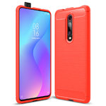 Flexi Slim Carbon Fibre Case for Xiaomi Mi 9T / Redmi K20 Pro - Red